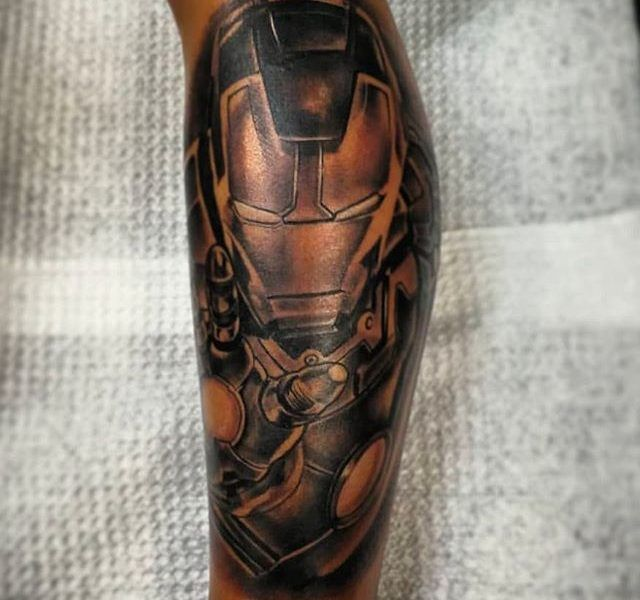 Iron men tattoo