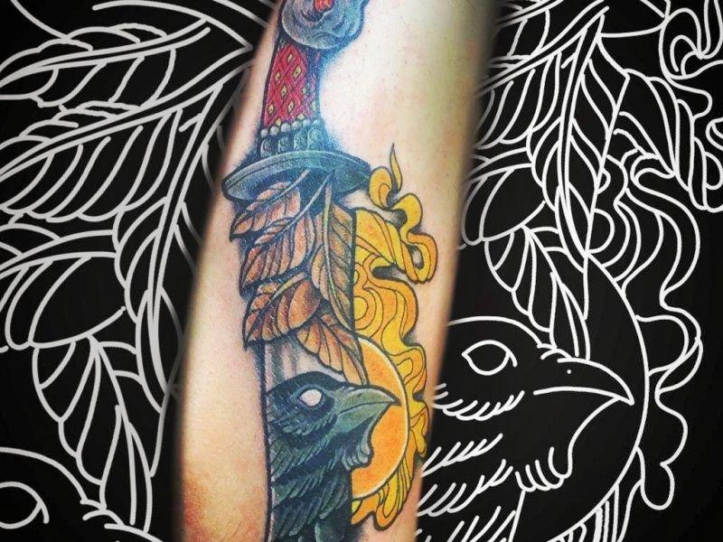 tatuajes dagas old school