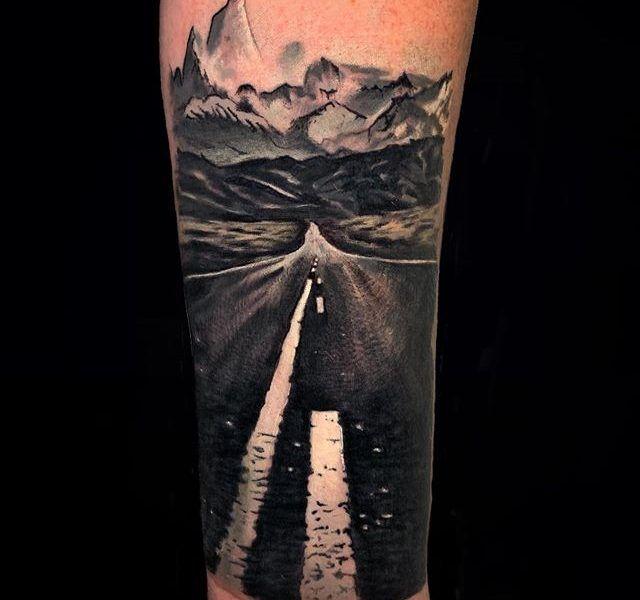 tatuaje paisaje