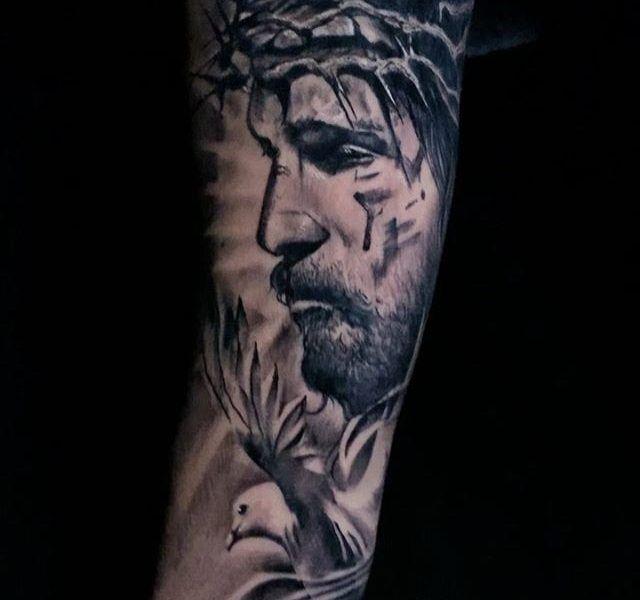 tatuaje cristo