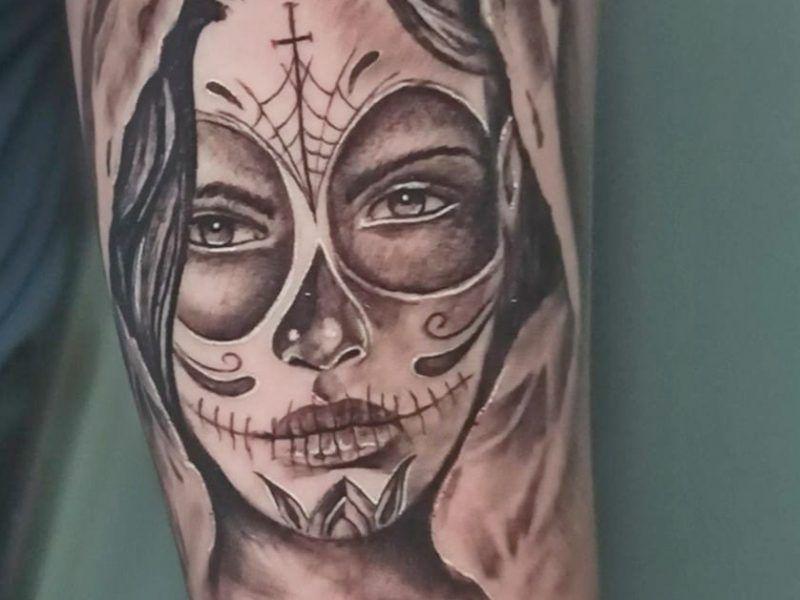 Catrina tattoo realismo