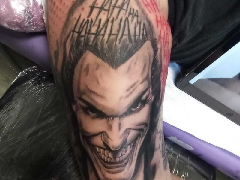 tattoo trash polka joker