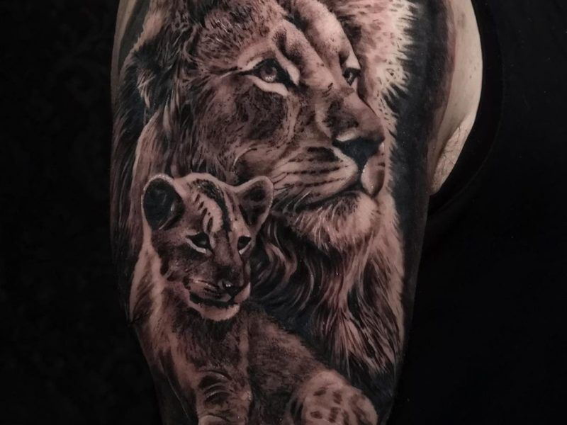 tatuajes realistas leones