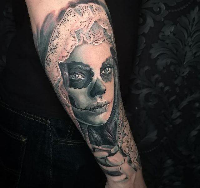 catrina realismo tattoo
