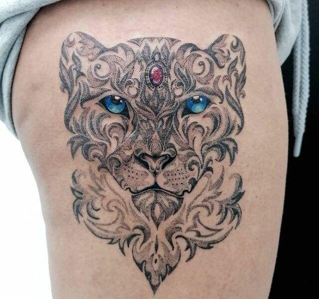 tatuaje puntillismo