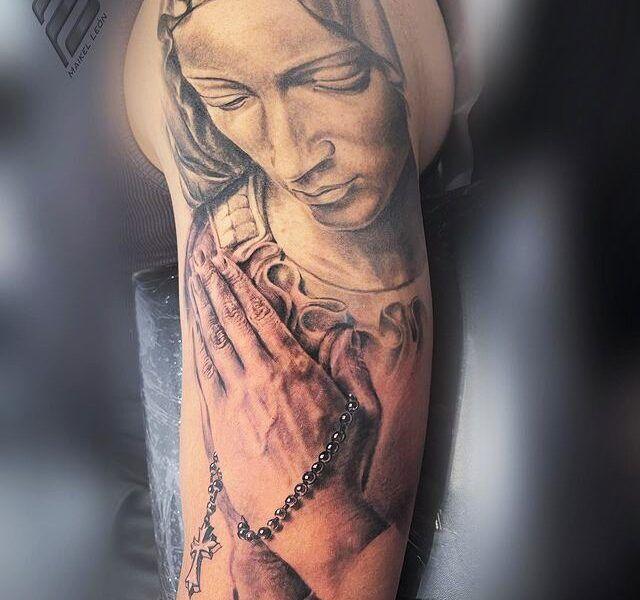 virgen realismo tattoo