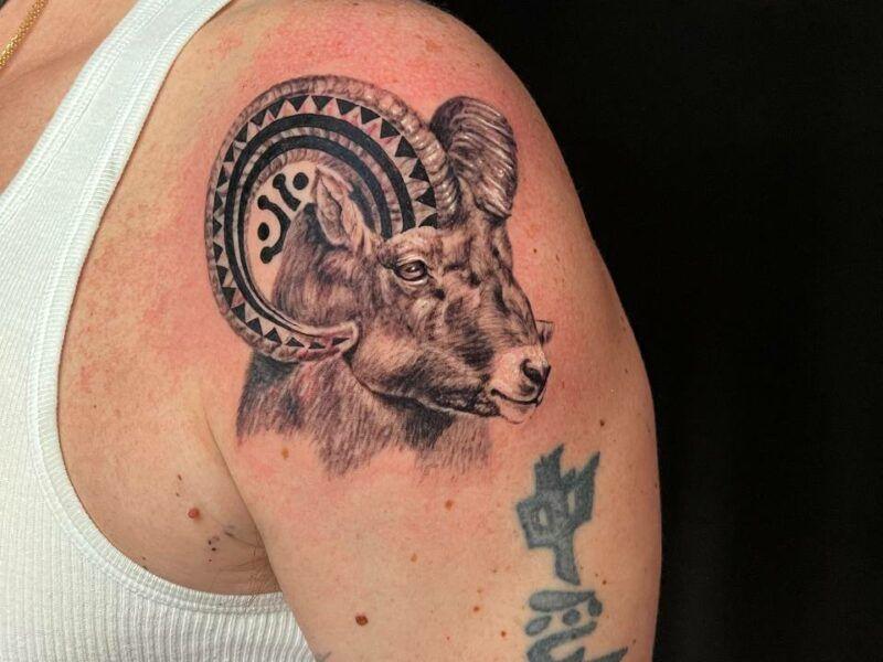 cabra realismo tattoo