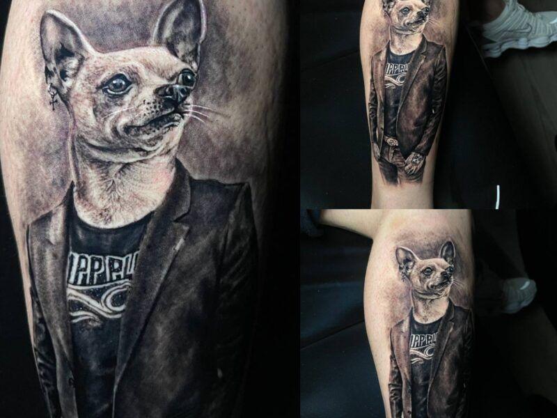 realismo tatuajes de perros