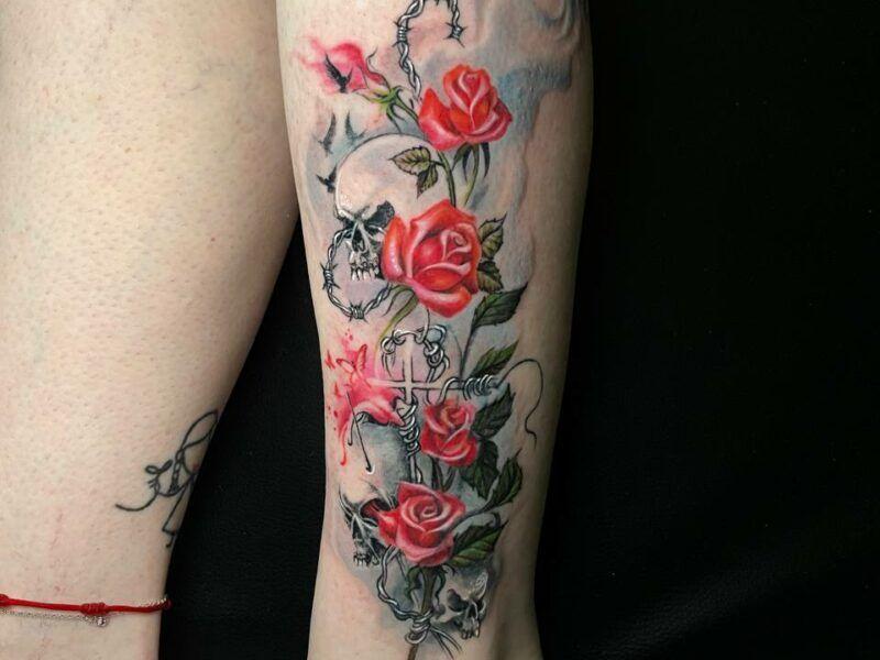 tatuajes de rosas realismo