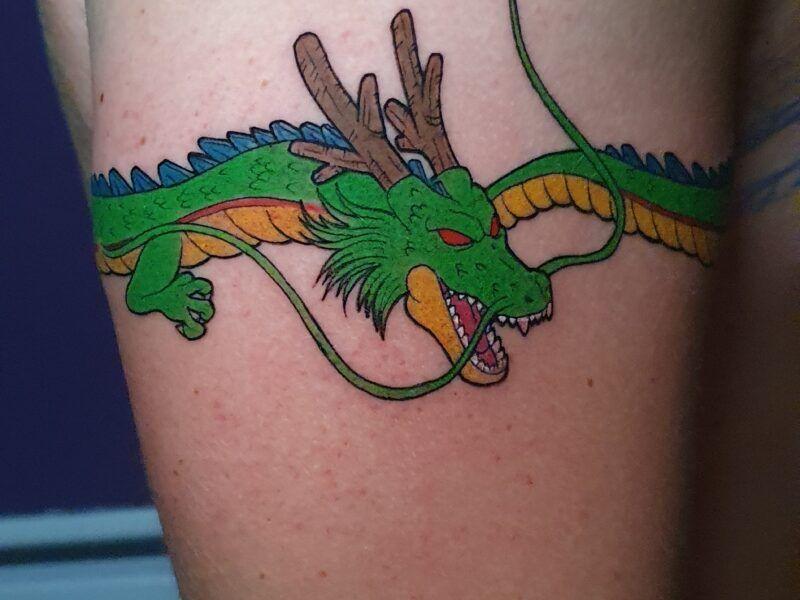 dragon tatuajes color