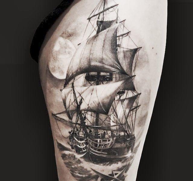 barco realismo tattoo