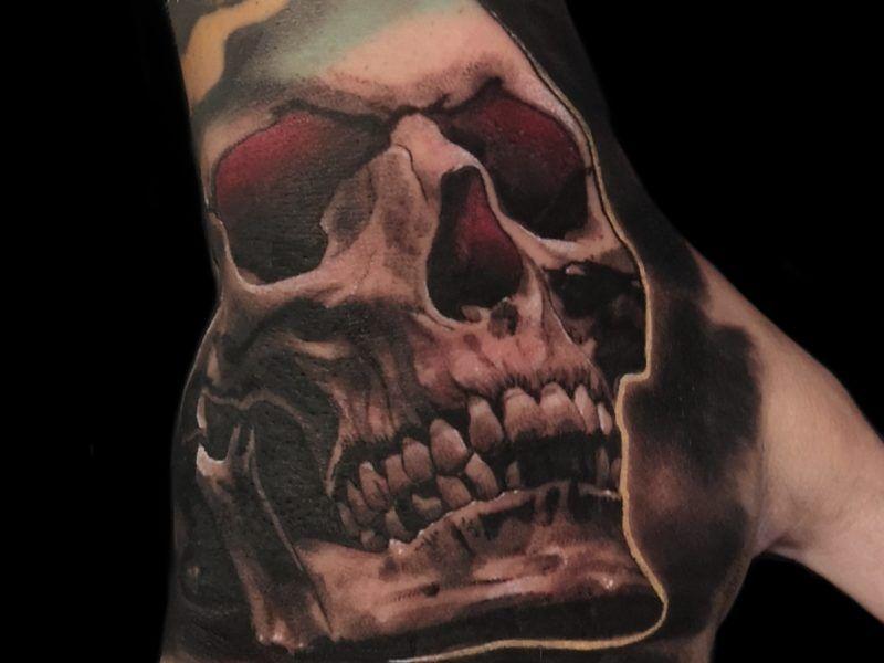 realismo tatuajes calaveras