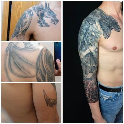 tapado de tatuajes