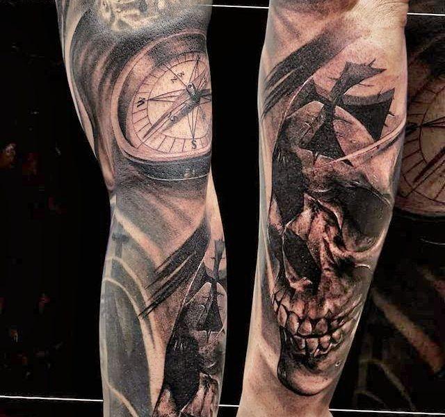realismo calavera tattoo